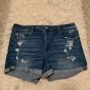 American Eagle High Waisted Jean Shorts Size 18